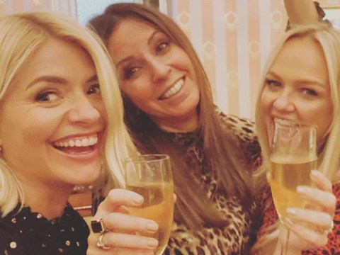 Holly Willoughby and Emma Bunton enjoy 'wonderful' night out to see Mamma Mia! the musical