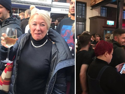 Woman with wine in hand captures British spirit after London Bridge attack