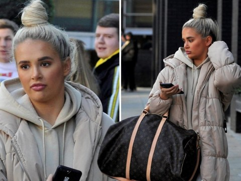 Love Island's Molly-Mae Hague looks comfortably chic in beige hoodie and coat combo