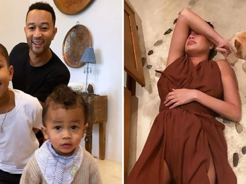 Chrissy Teigen collapsing on the floor after making Thanksgiving dinner is a mood