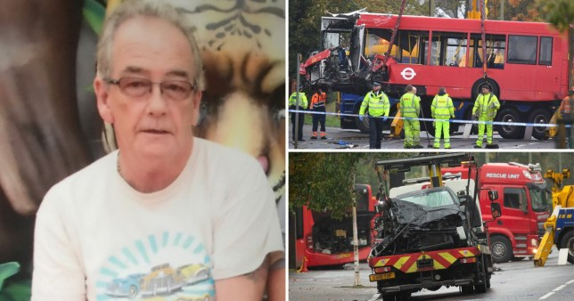 Kenneth Matcham, 60, has been named as the victim in the Orpington bus crash
