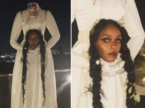 Janelle Monae is ready to haunt our nightmares in terrifying headless bride Halloween look