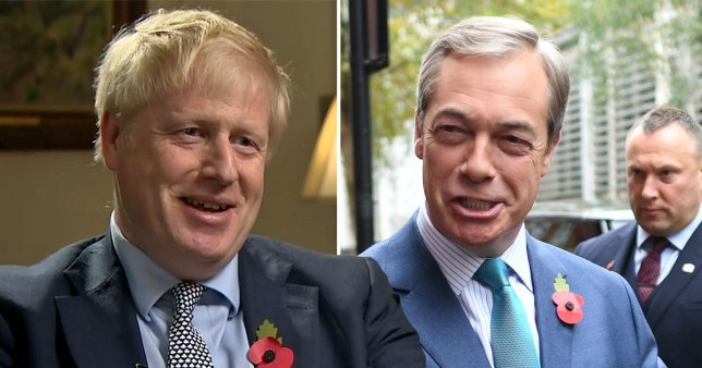 Boris Johnson rules out making a pact with the Brexit Party for the December 12 General Election (Picture: ITV)