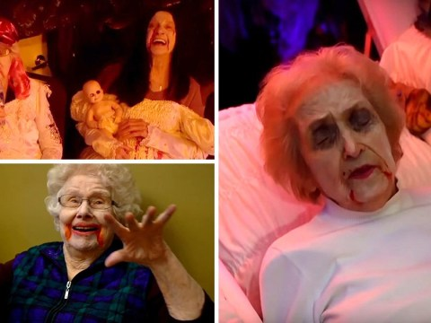 90 year olds in retirement home run a haunted housefor Halloween
