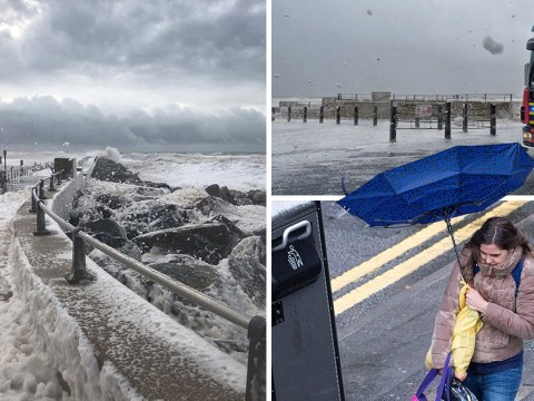 Weekend washout as heavy rain and 80mph winds batter UK