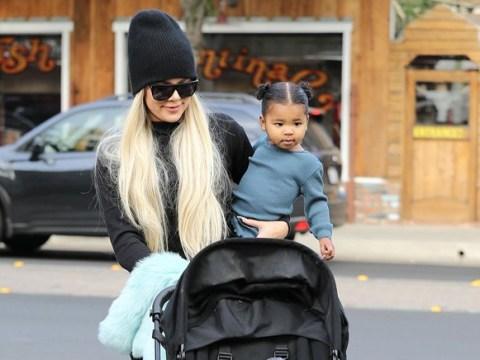Girls day out as Khloe Kardashian and Kris Jenner take baby True shopping