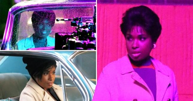 Jennifer Hudson filming Aretha Franklin biopic