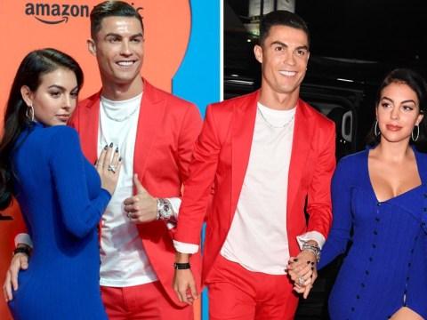 MTV EMAs 2019: Cristiano Ronaldo and girlfriend Georgina Rodriguez go bold in red, white and blue