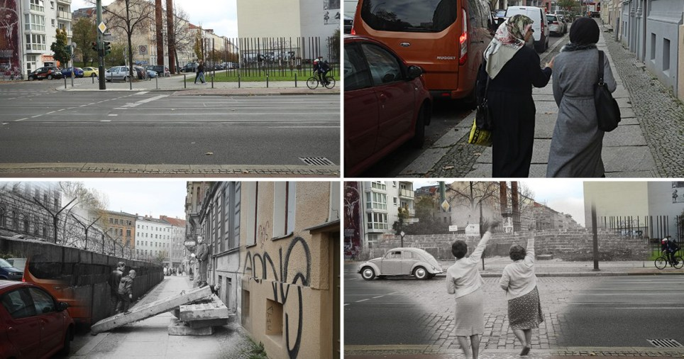 Before and after pictures show the evolution of Berlin 30yrs since the fall of the Berlin Wall (Picture: Getty)