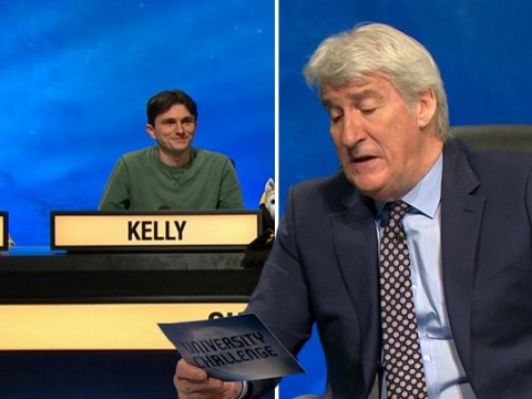 Jeremy Paxman says 'perfect cleavage' twice on University Challenge – and the contestants can't contain themselves