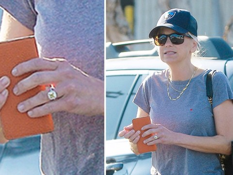 Anna Faris sparks engagement rumours after showing off a massive diamond ring on her wedding finger