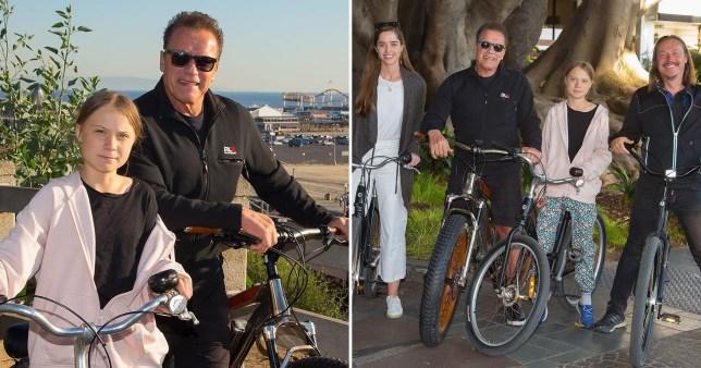 Arnold Schwarzenegger and Greta Thunberg