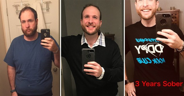 Kenny D took a selfie throughout recovery to show how sobriety has changed him