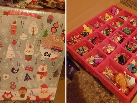 Mum creates amazing DIY advent calendar by filling empty tray with pound shop toys