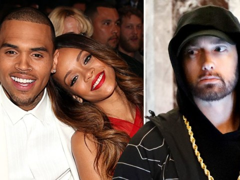Eminem 'sides with Chris Brown' after Rihanna beating in leaked audio of unreleased song: 'I'd beat a b***h too'