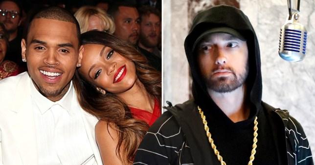 Chris Brown, Rihanna, Eminem