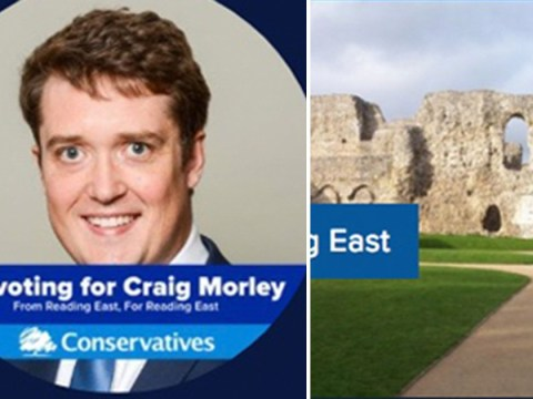 Tory candidate used picture of Scotland for his Reading constituency