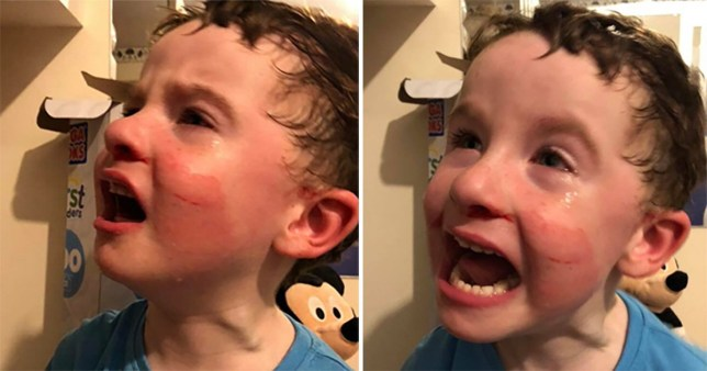 A severely autistic little boy had an 'epic meltdown' and made himself bleed after becoming deeply distressed by fireworks.