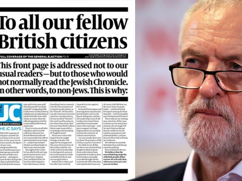 Jewish Chronicle pleads with UK to boycott Corbyn at General Election