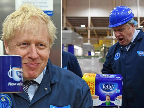Boris gets a brew as he tries to woo voters in marginal seat