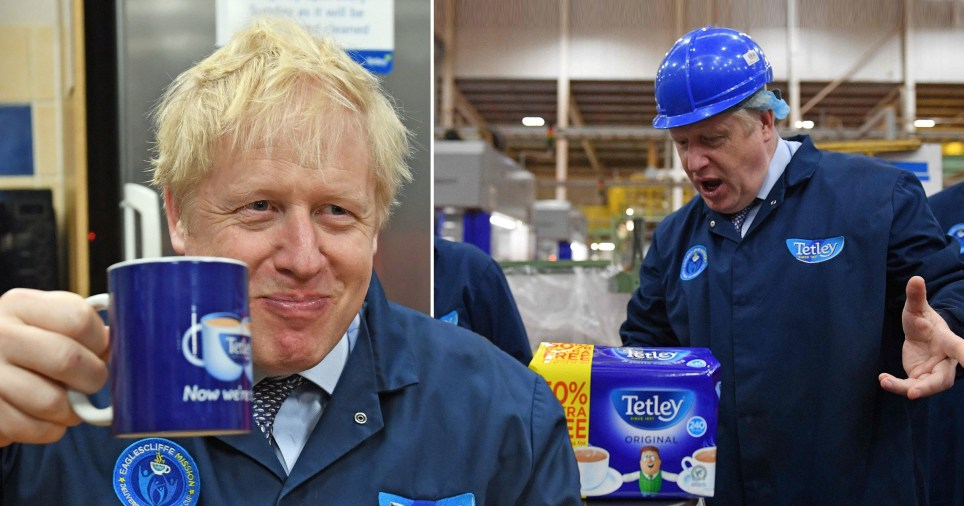 Boris picks up tips on making the perfect cuppa as his election campaign trail kicks off