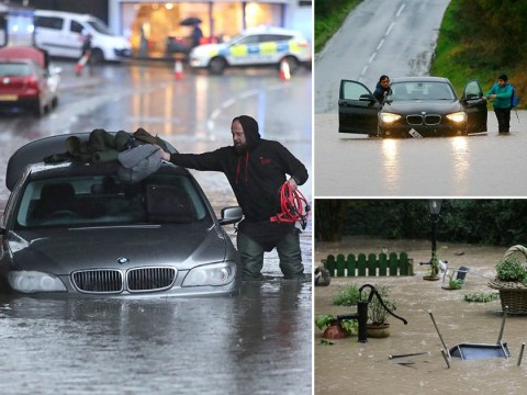 Torrential rain batters the north as nearly 100 flood warnings issued