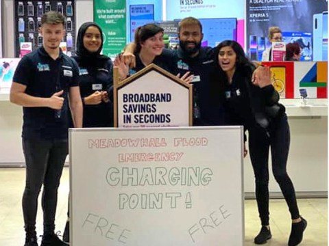 Carphone Warehouse stays open so Meadowhall victims can charge their phones