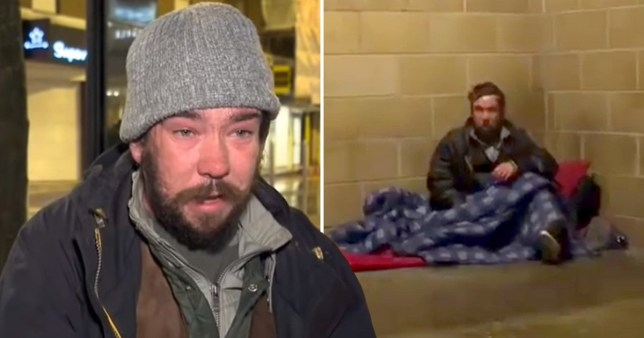 Tom Allen's plight highlights the urgent need to address the country's homelessness crisis (Picture: Sky News)