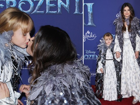 Selena Gomez and little sister Gracie are adorable as they wear matching outfits at Frozen 2 premiere