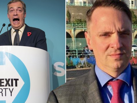 Brexit party defend candidate's 'Luftwaffe-inspired' band