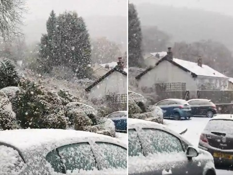 Snow blankets parts of UK as temperatures plunge to -7C