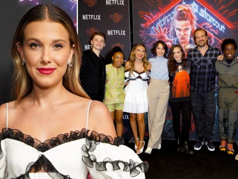Millie Bobby Brown reunites with Stranger Things cast for glam night out