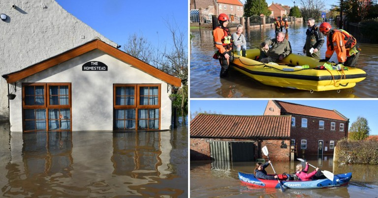 Flooding in Yorkshire has been particularly bad (Pictures: PA)