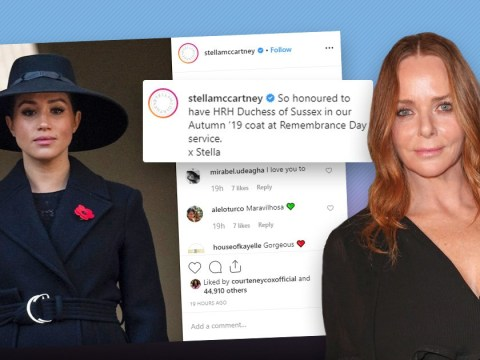 Stella McCartney criticised for plugging coat worn on Meghan Markle on Remembrance Day