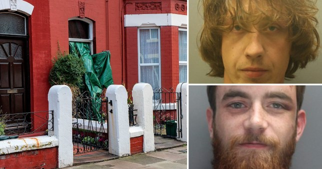 Compilation of burnt out house in Waterloo, Merseyside and convicted attempted murders and cousins Edward Crompton and Stanley McBrien