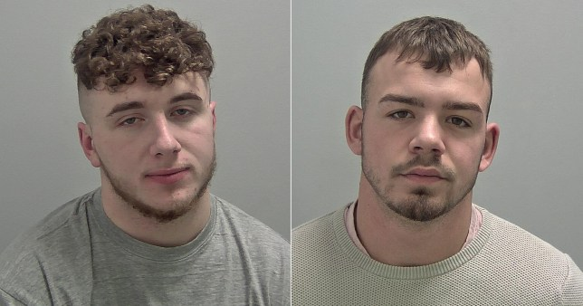 Jay Drage (left) and Dale McCarthy (right) were jailed after a fight when they were dressed as Batman and Robin