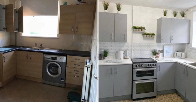 Mum Transforms Kitchen Cabinets Tiles And Worktops For 200 Metro News