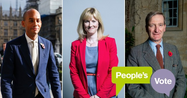 Dominic Grieve, Chuka Umunna and Rosie Duffield top the 'PV100' list