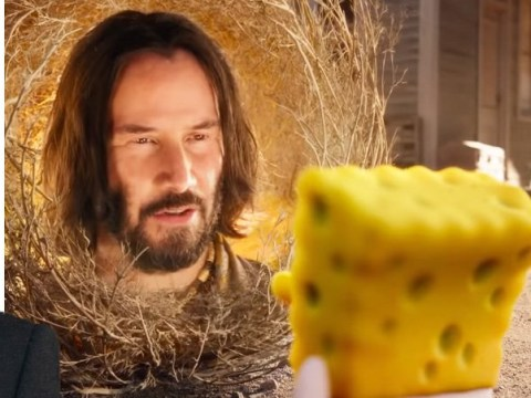 Keanu Reeves plays a tumbleweed in the new SpongeBob Movie trailer and it's just as random as it sounds