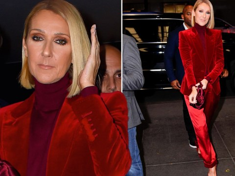 Celine Dion steps out in head-to-toe red after revealing she's 'open' to finding love again