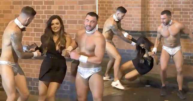 Geordie Shore's Abbie Holborn escorted out of gay club by cast mates