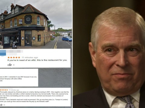 Pizza Express in Woking flooded with fake reviews after Prince Andrew interview