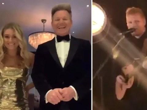 Ed Sheeran kindly performs at Gordon Ramsay's daughter's 18th birthday 'as a favour'