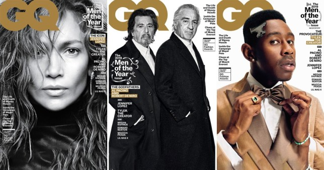 Al Pacino Robert De Niro Tyler, the Creator, Jennifer Lopez GQ Magazine
