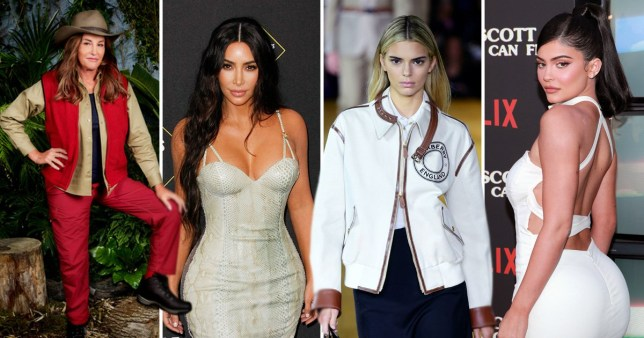 Caitlyn Jenner, Kim Kardashian and Kendall and Kylie Jenner