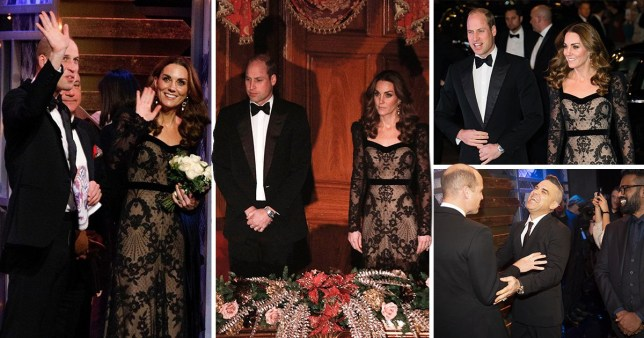 Prince William and Kate Middleton left the children at home to attend the Royal Variety Performance at the London Palladium on Monday night