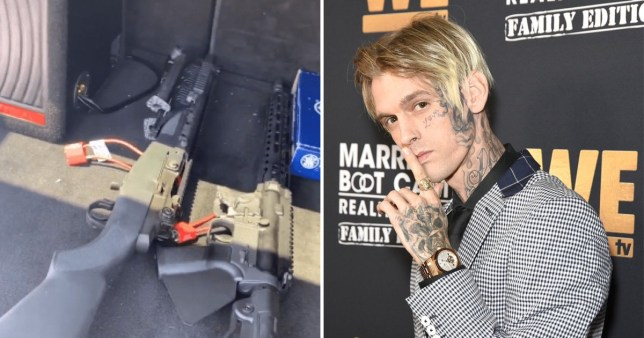 Aaron Carter says he's 'lost everything' as judge rules to remove his gun collection in court