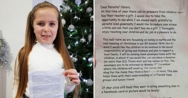 teacher asks kids not to buy her a christmas present