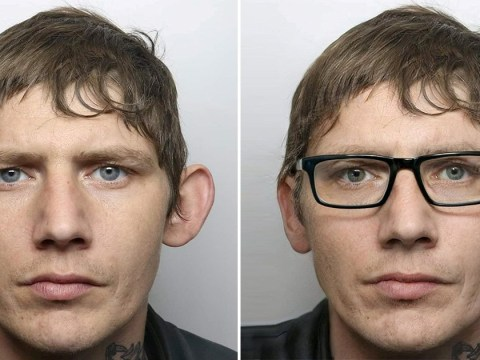 Police weren't foiled by this crook's disguise – a pair of glasses
