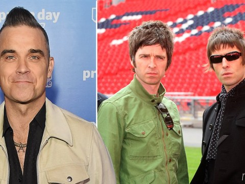 Robbie Williams reckons Oasis' comeback won't be as successful as Take That's and he's actually serious